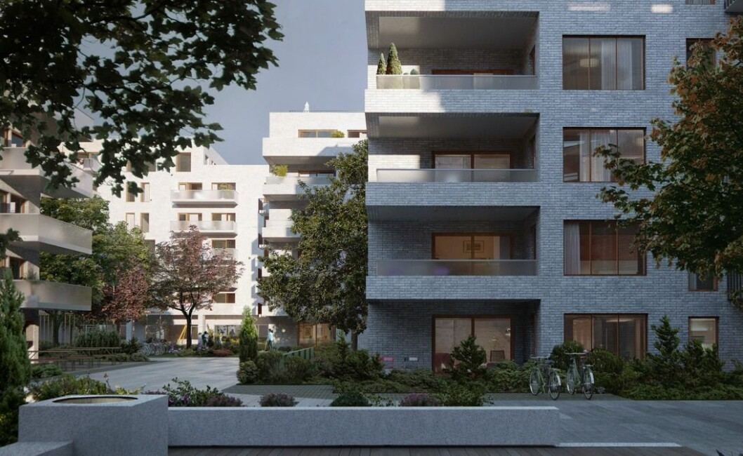 GRØNT: Gregers Kvartal får rundt 300 leiligheter. Ill.: Dyrvik Arkitekter