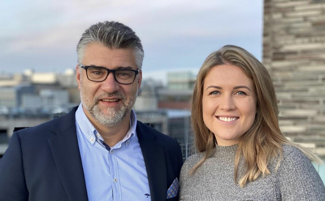 NYANSATTE: Citycon styrker utleieteamet med Stine Bjørdal fra Colliers International og Jarle Alværn fra Abel Eiendomsforvaltning.