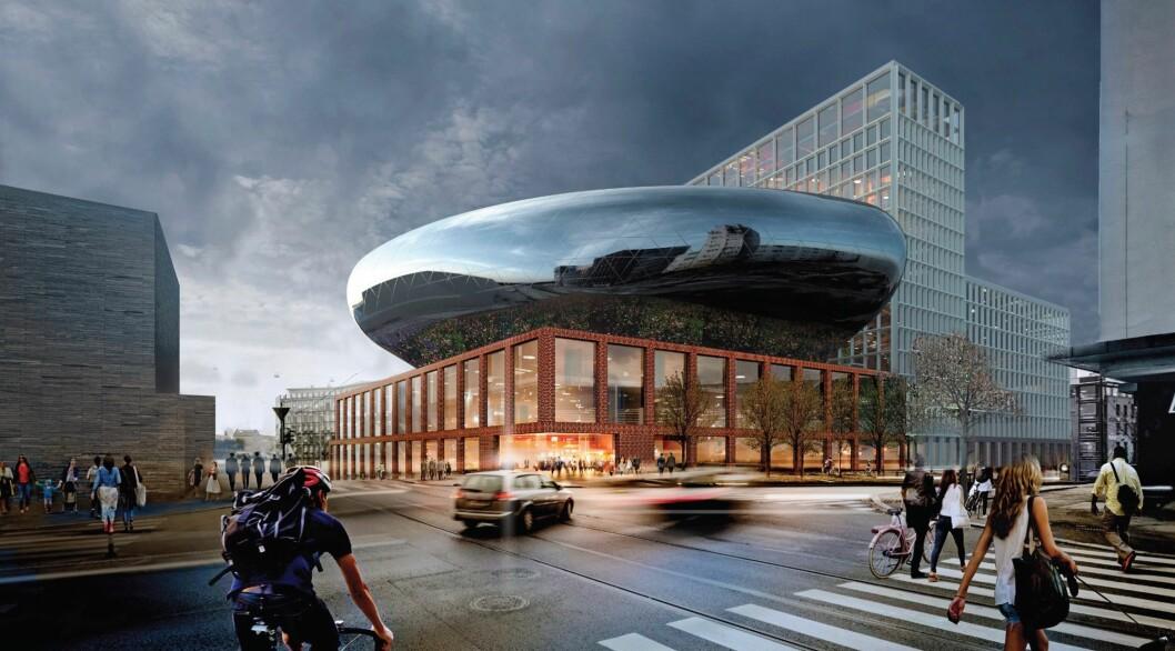 SVÆRT NEGATIV: Statsbygg er svært negativ til at NPRO har fremmet planforslag for et  hotell- og kongressenter på Trekanttomten. Ill: White arkitekter