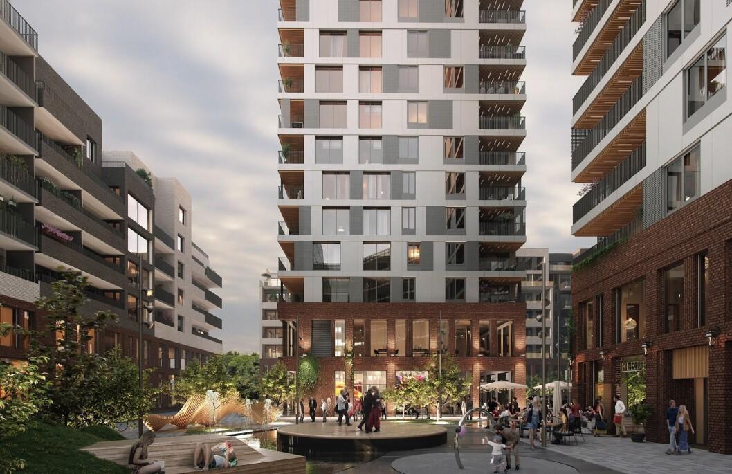GODT SALG: Stor-Oslo Eiendom solgte leiligheter for 600 millioner kroner i Meierikvartalet i fjor. Ill.: MIR