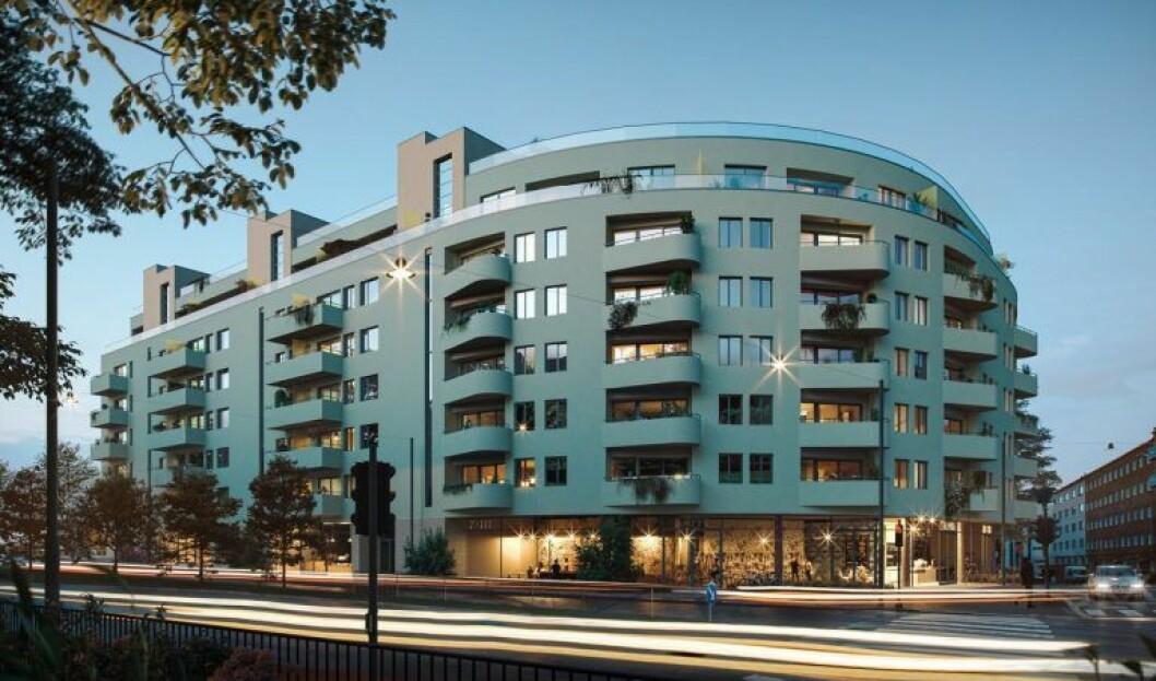 HAR TATT TID: Leif Botolf Hesle-selskapet Fortuna Estate har brukt flere år på å få godkjent dette store byggeprosjektet på Fagerborg i Oslo, og har også strevd med å levere årsregnskaper innen fristen. (Ill.: Eve Images)