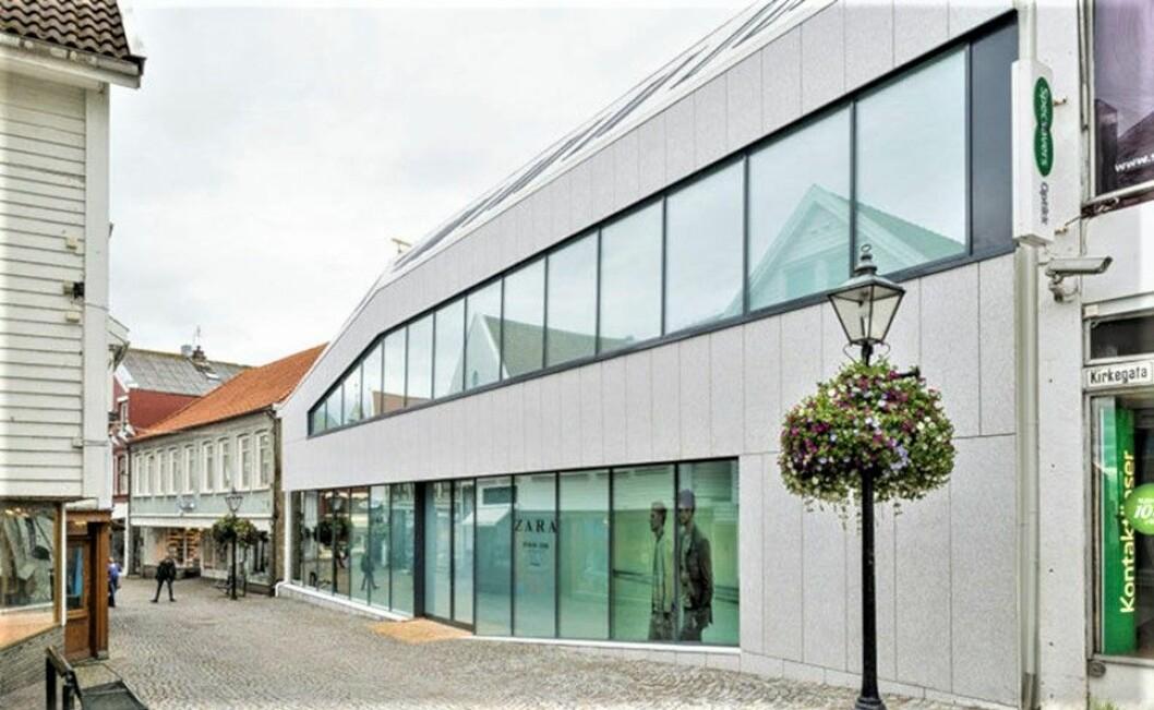 RETTEN MÅTTE RYDDE OPP: Motekjeden Zara er leietaker i denne eiendommen i Stavanger. Etter at eiendommen ble solgt, kom det til uenighet mellom kjøper og selger hvordan ordlyden i avtalen skulle tolkes.(Foto: Brandsberg-Dahls Arkitekter/Johannes Marburg)
