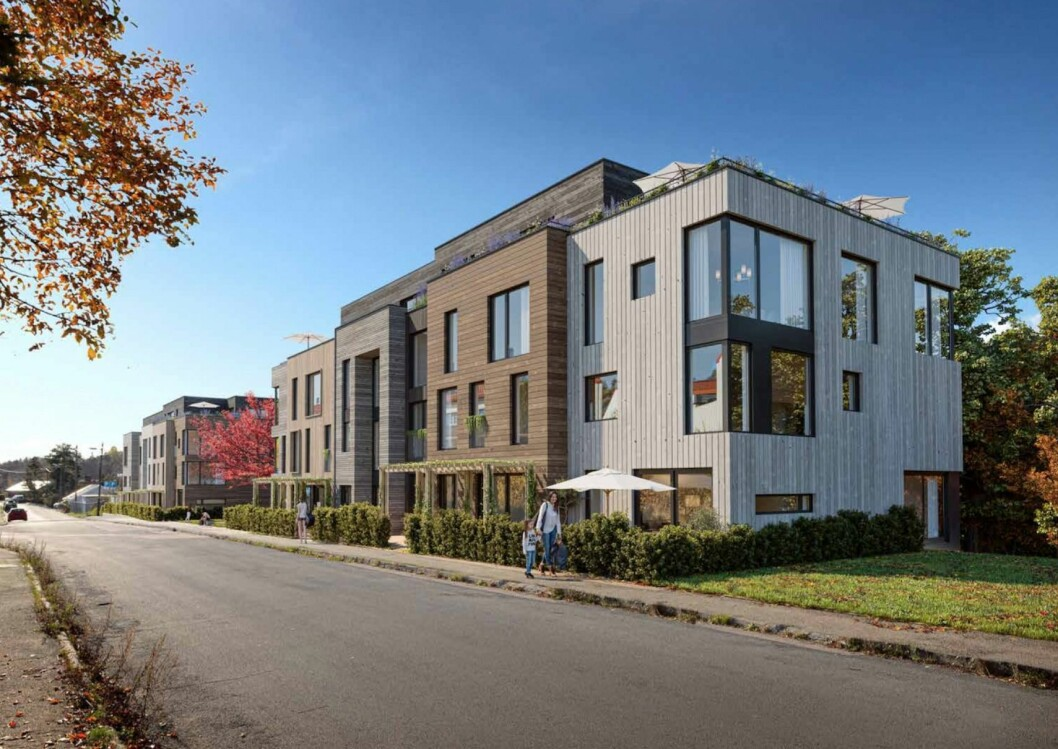 UTSYN: De nye boligene vil i hovedsak være tosidige med generøse balkonger og utsyn mot friområder og miljøparken. Ill: AART architects