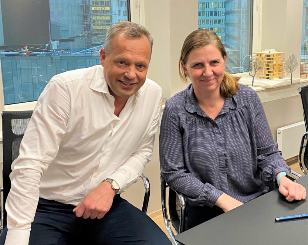 STYRKER: Stig L. Bech har fått inn Tine Aagesen som reguleringsrådgiver i Solon Eiendom.