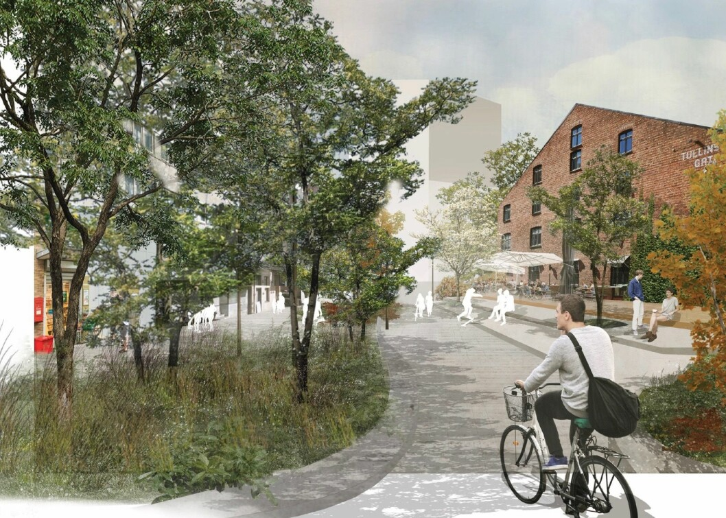 SKJULT POTENSIAL: I en skissebok for prosjektet skriver SLA at byrommet ved St. Olavs gate gir en unik anledning til å hente frem et skjult potensial.