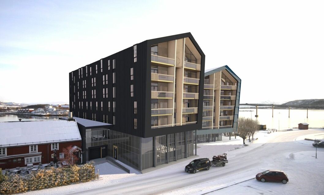 STØRST: Det nye hotellet blir ferdig om halvannet år. Ill.: Arkitekt: VISAVIS