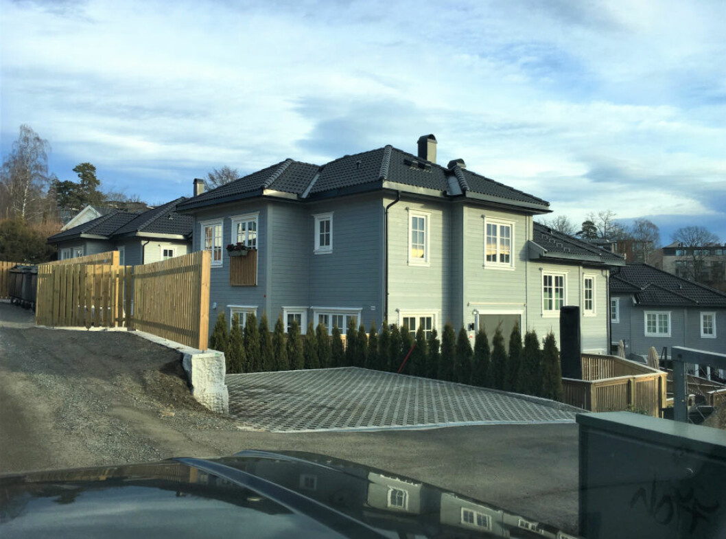 SAKSØKT: Utbyggerne av dette boligprosjektet på Vinderen i Oslo må møte i retten, etter at boet har gått til søksmål mot styremedlemmene.