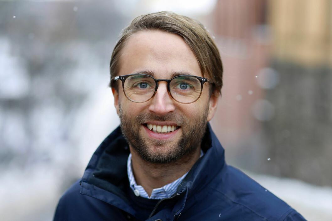 GÅR TIL VATNE: Marius Flood.