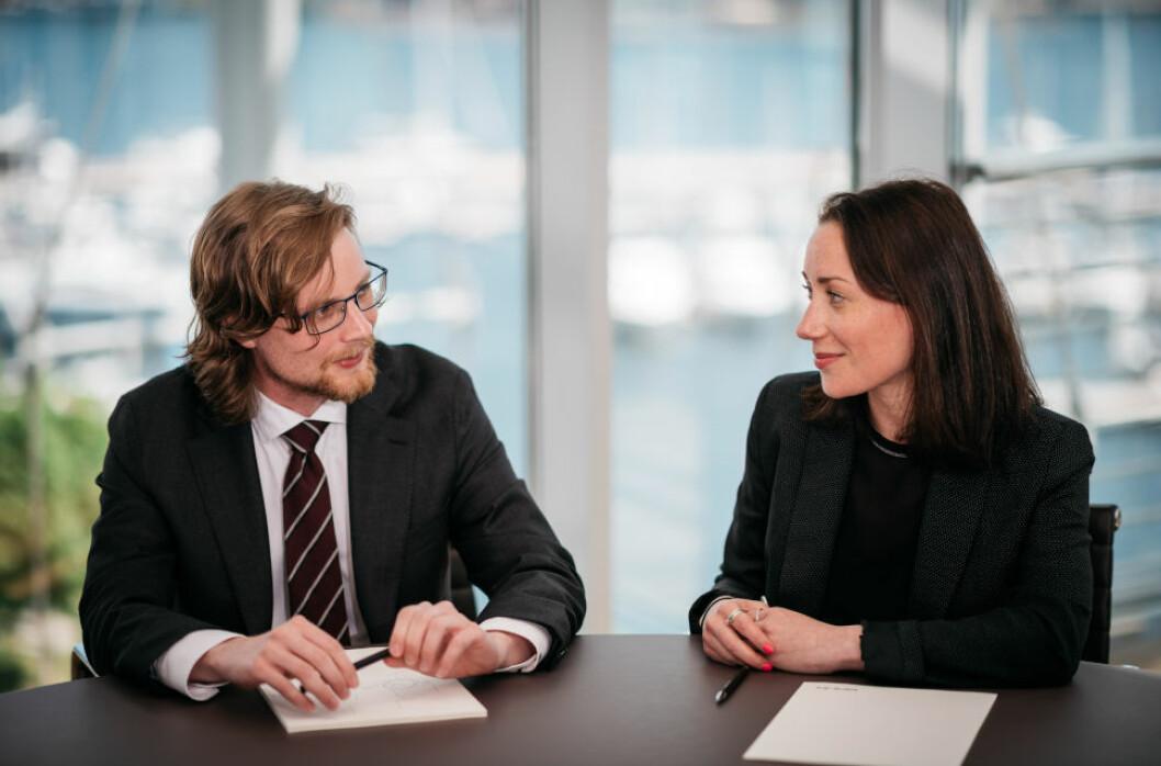 VANLIG KONTRAKTSMODELL: - Det er mange ulike oppfatninger om hva en samspillskontrakt bør inneholde, til tross for at samspillskontrakter har blitt mer utbredt, sier advokatene Halvor Mathisen og Sofie Komissar.