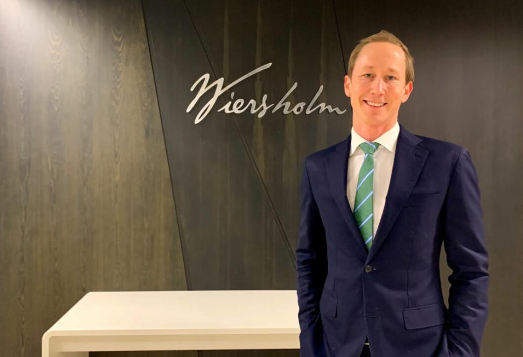 RETURNERER TIL ADVOKATBRANSJEN: Etter ett år som WeWork-direktør, går Henrik Taubøll nå tilbake til advokatbransjen. Han blir sentral for Wiersholms videre satsning på eiendomsutvikling.