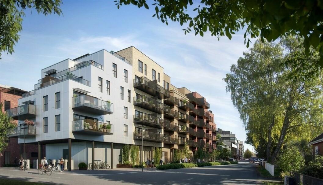 POPULÆRT: Få steder i Viken er så magnetisk på boligkjøpere som Lillestrøm. Her fra prosjektet Aveny Vest.