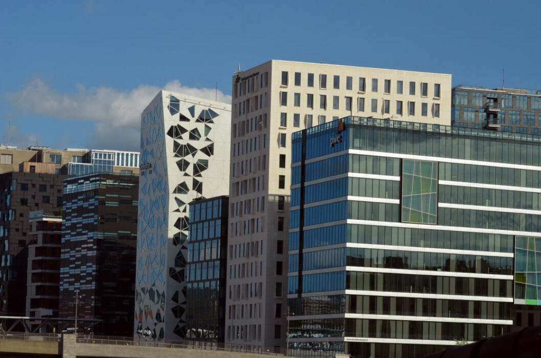 STORE VERDIER: KLP eier blant annet sitt hovedkontor i Bjørvika. Foto: Sergey Kamshylin/Shutterstock.com