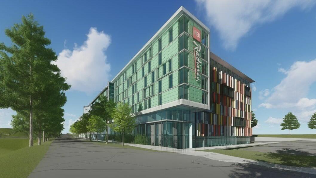 UTVIDER: AFG skal utvide hotellet som de opprinnelig bygde i 2009-2010. Ill.: Niels Torp