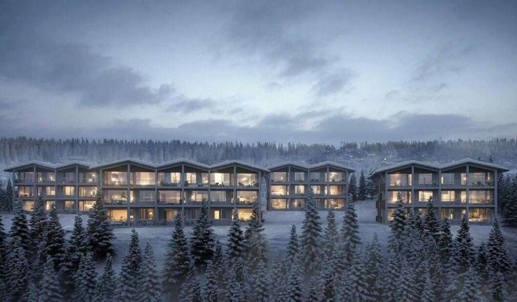 FJELL: Nå slippes disse fritidsleilighetene. Ill.: Arkitekt Einar Jarmund & Co
