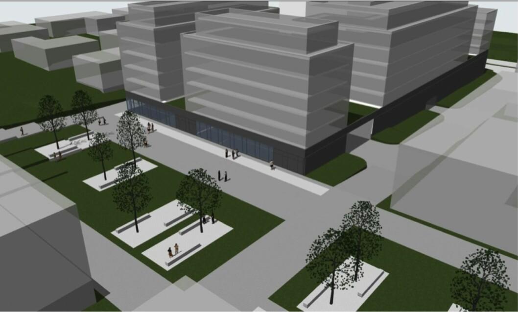 VARIERT TILBUD: Målet for Haugerud senter er å legge til rette for et fungerende lokalsenter med et variert tilbud. Ill: Meinich Arkitekter