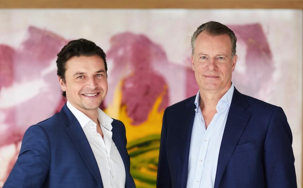 FORNØYD: Konsernsjef Morten Borge og styreleder Johan H. Andresen i Ferd er fornøyd med kjøpet av NRK-tomten.