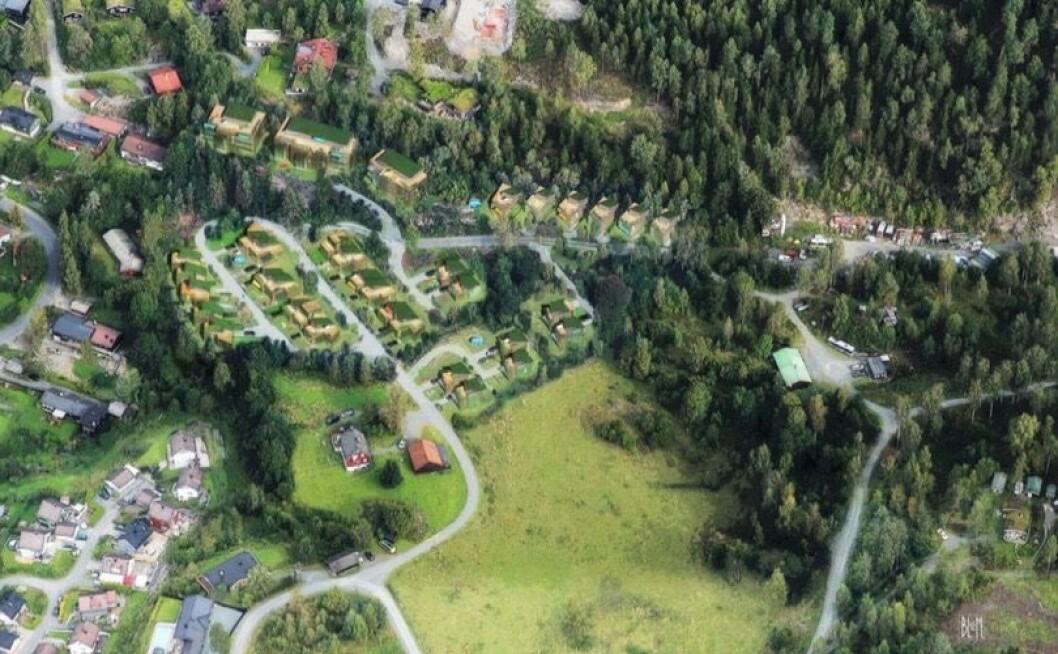 SKÅNING Planområdet ligger i en sørvestvendt skråning i sørøstre del av Lommedalen. Ill: Indigo Arkitekter