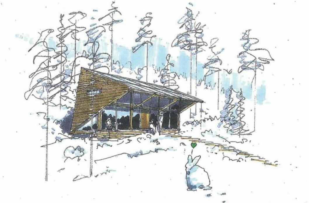 PILOT: Om hyttene blir akkurat slik er usikkert, men prosjektet legger opp til en ganske annen tenkning enn dagens hytteutvikling. Ill.: Skaara Arkitekter
