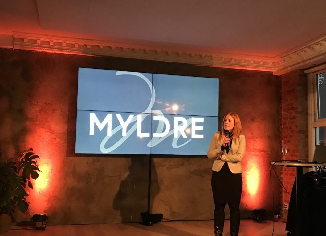LANSERING: Etter halvannet års utvikling kunne Mallings forvaltningsdirektør Cathrine Kildalsen lansere den nye digitale plattformen Myldre.