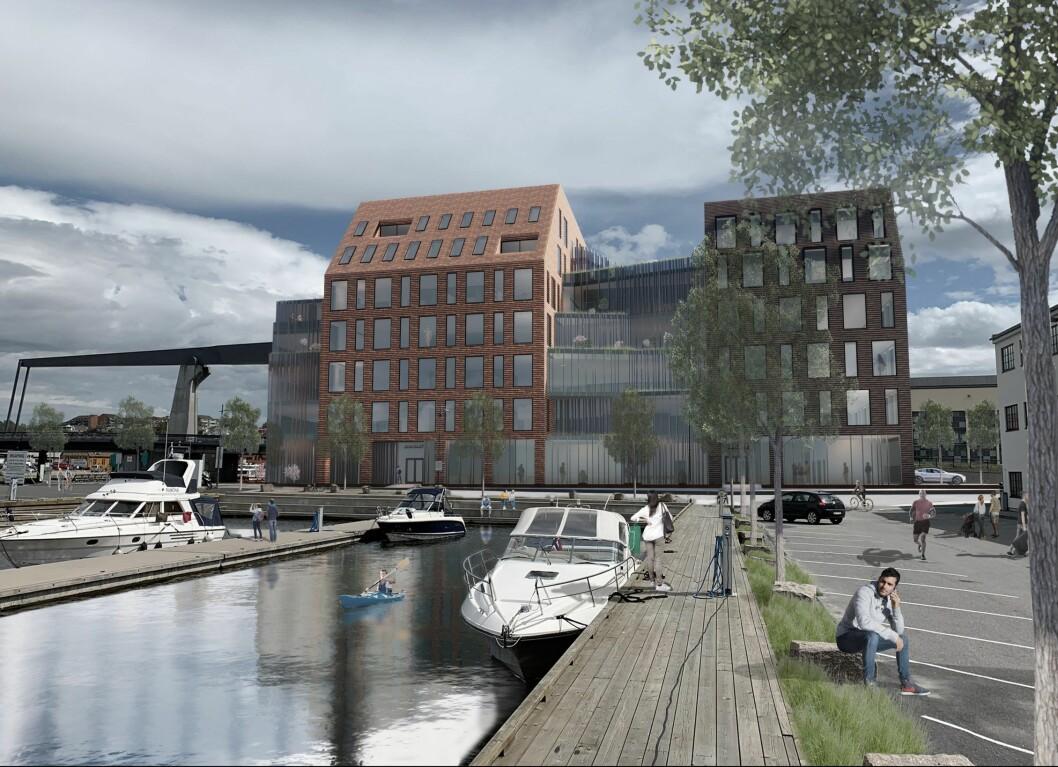 NYTT: AF Gruppen skal bygge Dokka 6. Ill.: Griff arkitektur.