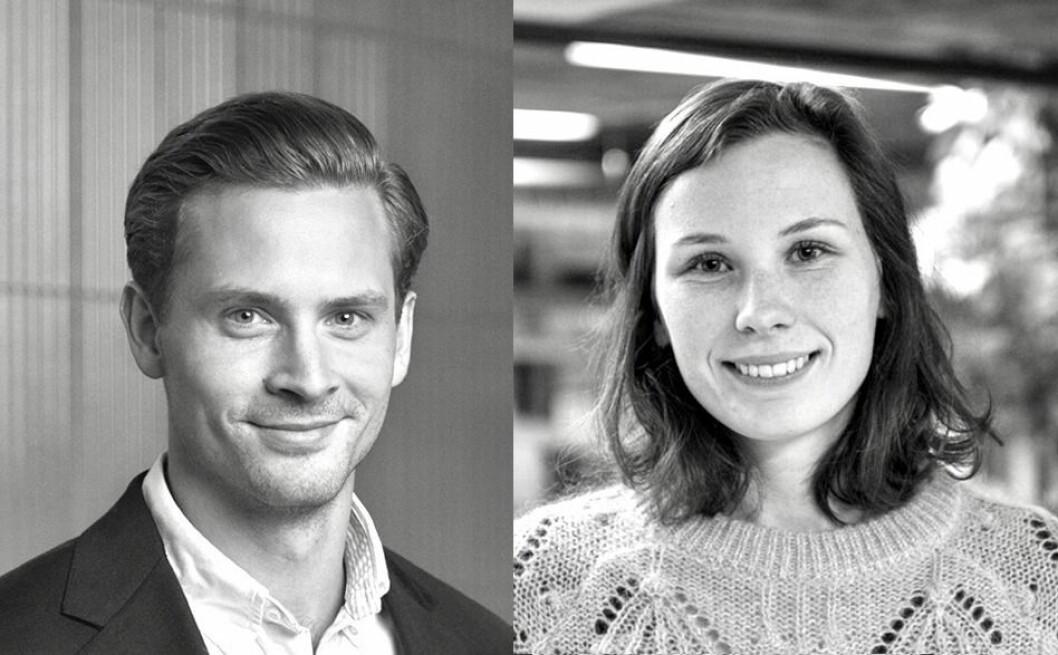 NYE: Guro Varvin Hjelseng og Anders Wehmer har tiltrådt som prosjektledere i Höegh Eiendom.