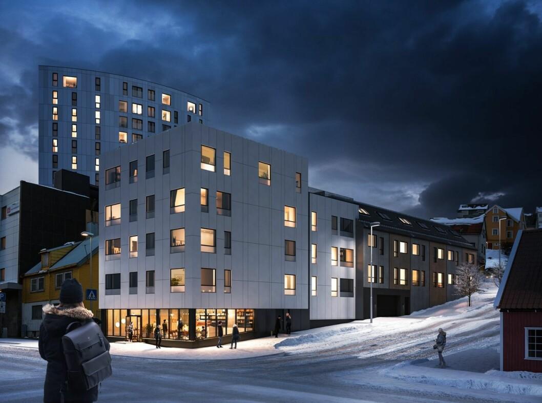 SENTRUM: Thon skal bygge flere leiligheter i byen. Ill.: 3D Estate/Thon Eiendom