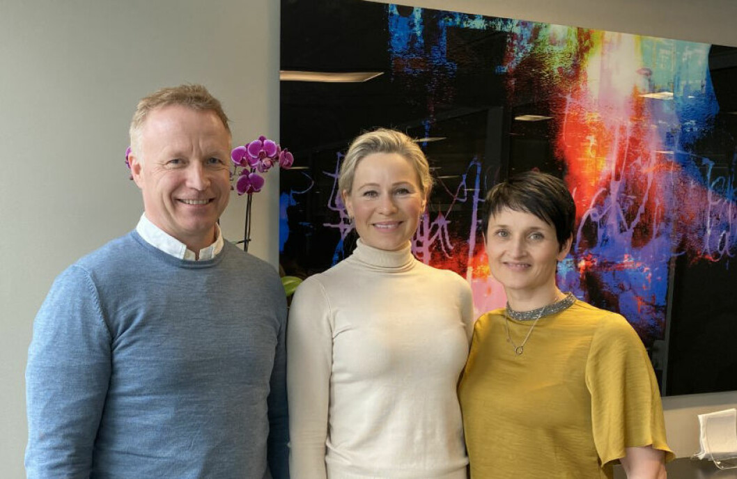 PARTNERE: Ronny Engbretsen i Øie Eiendomsutvikling, Katharina Hernæs i AF Eiendom og Britt Tøsse Aandal i Wenaas Kapital.