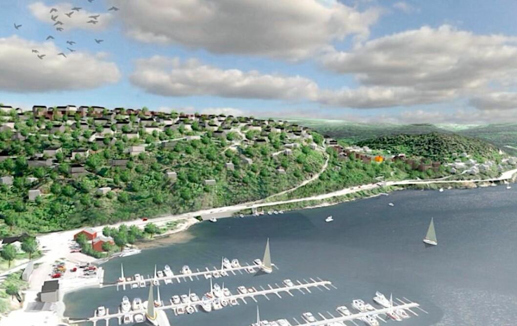 BOLIGER: Rett sør for hovedstaden planlegges et stort boligfelt med opp mot 500 enheter.