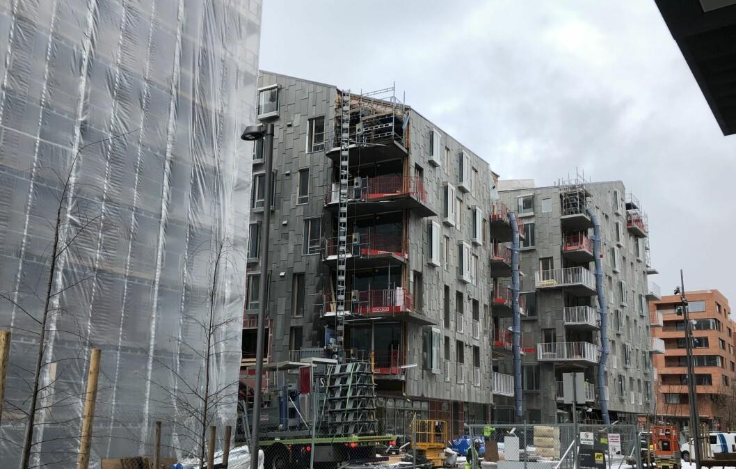 TREGT: Igangsettingen av leiligheter det seneste året er 19 % under forrige tolvmånedersperiode. Foto: Glen Widing
