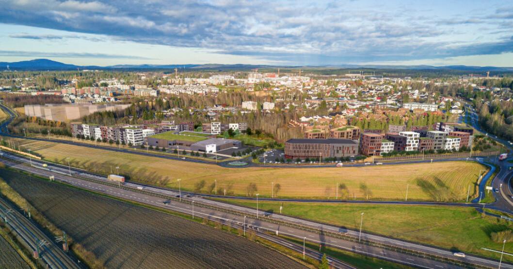 SATSER FRISKT: Alt er utleid i Conceptors planlagte næringsbygg Byporten Jessheim. Byggingen starter nå.