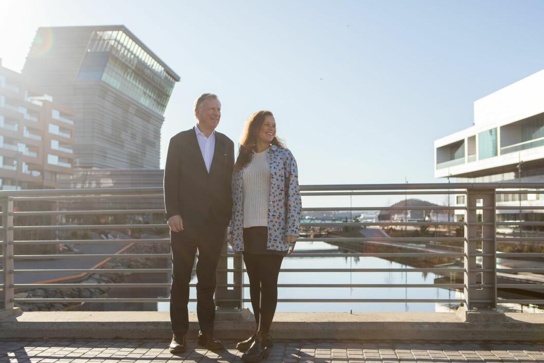 PLANER: Carl Erik Krefting og investerings- og utviklingsdirektør Caroline Krefting har planer for den frigjorte kapitalen etter obligasjonslånet. Foto: Johanne Nyborg.