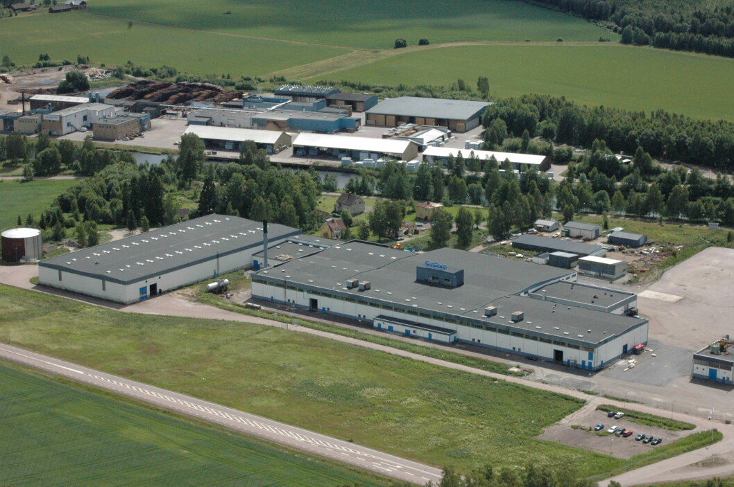 SATSER: Älvsbyhus satser i krisetider. Her er fabrikken deres i Vålberg i Sverige. Illustrasjonsfoto