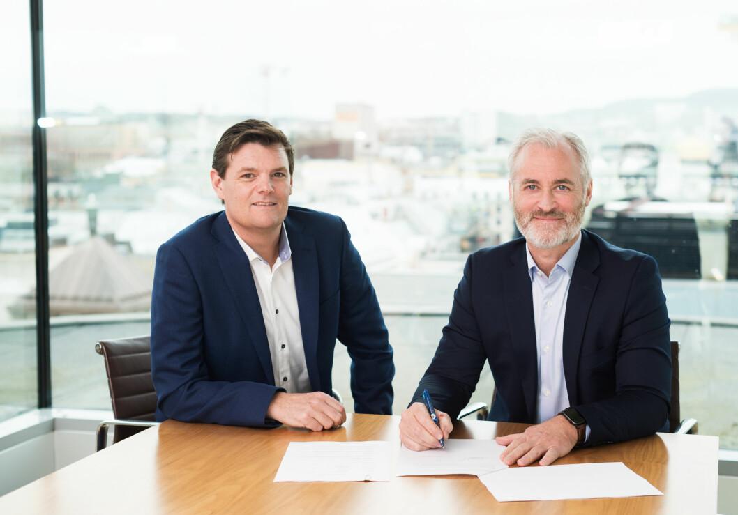 NY MANN I ABNE: Ny teknisk forvaltningssjef i ABNE, Geir Teigo (til venstre) og forvaltningsdirektør i ABNE, Tryggvi Olafsson (til høyre).
