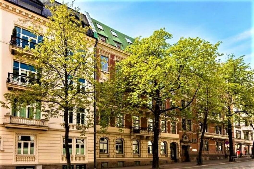 DEKNINGSSALG: Denne eiendommen i Bygdøy Allé har nylig vært hovedtema i en tvist i Oslo tingrett.