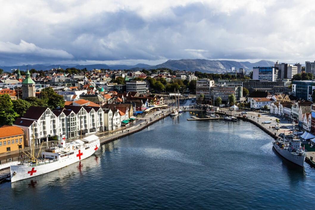 SENTRALT: Eiendommen ligger i Stavanger sentrum. Foto: Shutterstock.