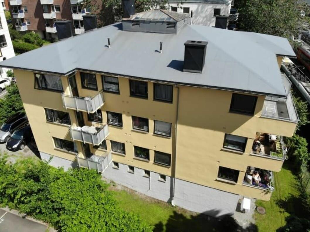 BILLIGSALG: Bygården på Frogner rommer 13 leiligheter. Foto: Privatmegleren.