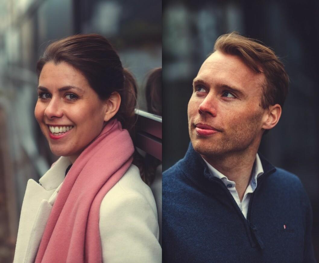 NYE I STOR-OSLO EIENDOM: Ingri Sæbø Dale og Anders Bjørnsen.