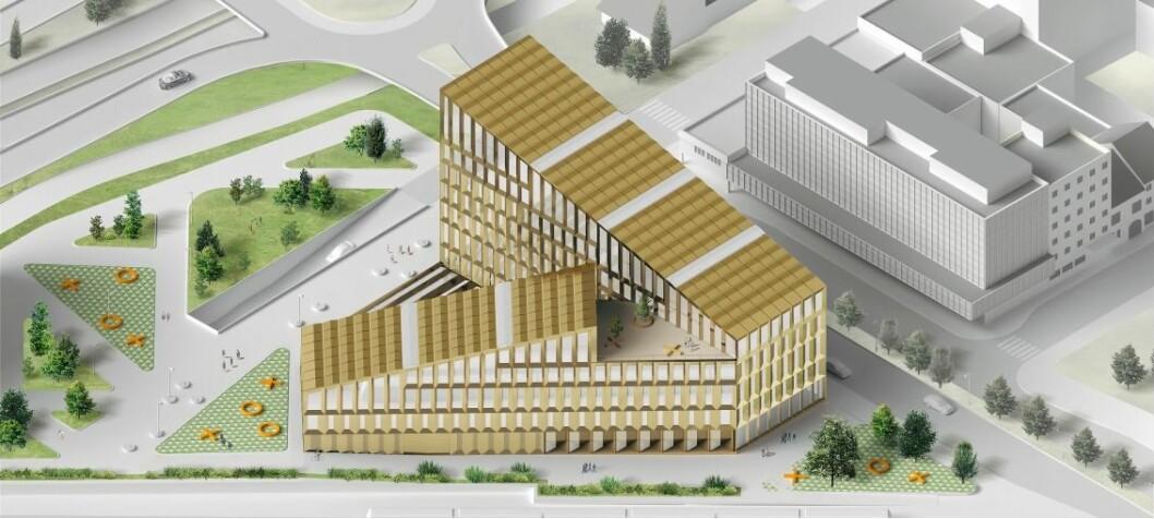 STOR UTBYGGING: Bane NOR Eiendom står bak Quadrum-prosjektet i Kristiansand. Ill.: Ghilardi+Hellsten Arkitekter