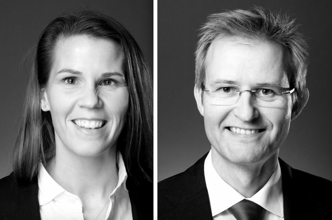Partner og advokkat Anette Thunes og partner og advokat Jacob Solheim i Advokatfirmaet Føyen Torkildsen. Foto: Erik Burås/StudioB13