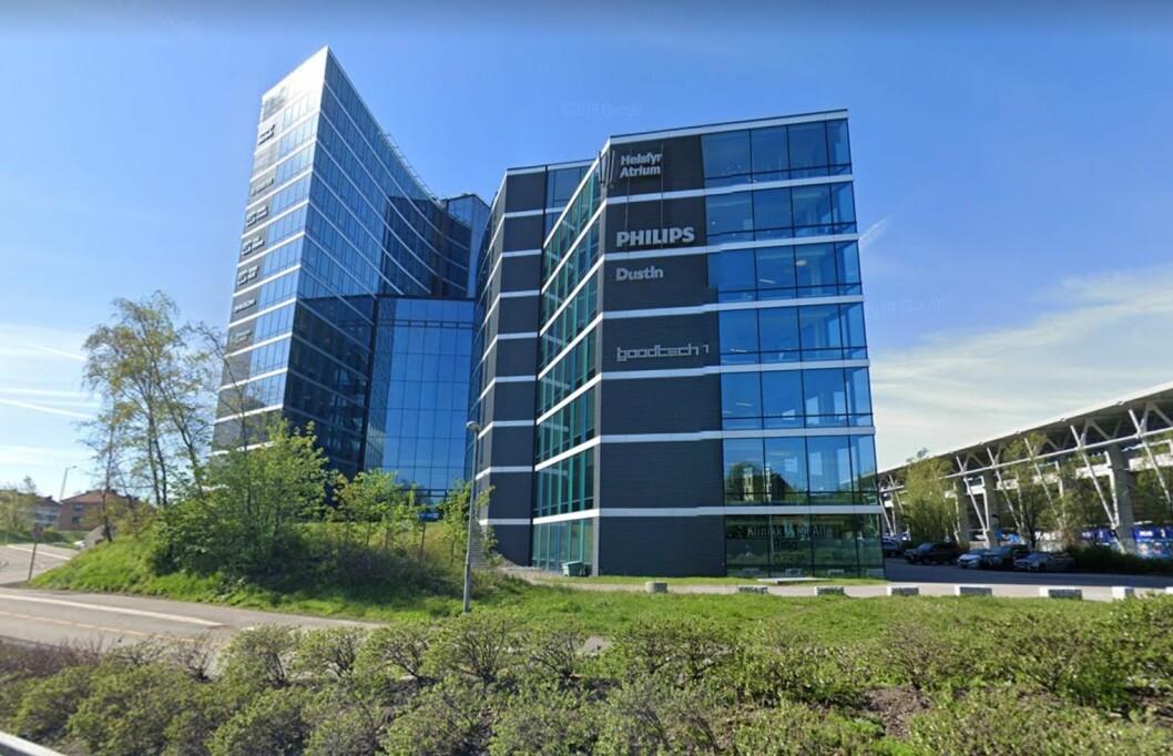 KJØPTE I 2018: Det europeiske investeringsselskapet Tristan Capital Partners ble ny eier av Helsfyr Atrium i 2018. Foto: Google Street View