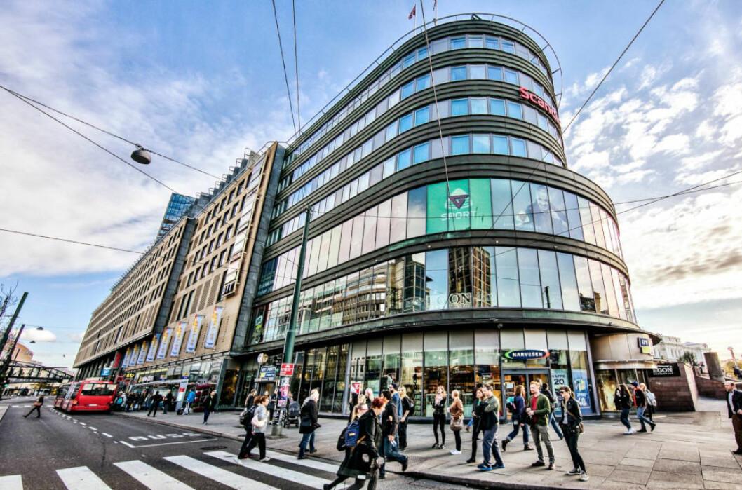 KORONAFRYKT: Kjøpesenteret Byporten i Oslo er blant eiendommene som eies av KLP Eiendom. Selskapet leverte bra resultater i fjor, men er mer usikre på hvordan 2020 vil ende resultatmessig på grunn av koronapandemien. (Foto: KLP Eiendom)