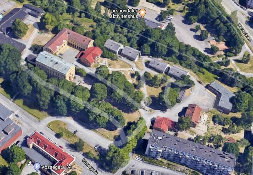 STOPPET: Plan- og bygningsetaten stoppet planinitiativet for prosjektet på Torshov i Oslo. Foto: Google