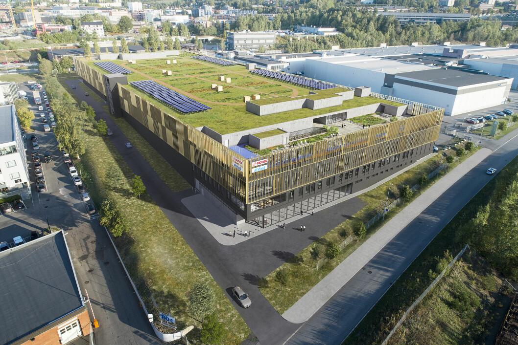 710 MILL.: Utvikler og eier Aspelin Ramm har fått A Bygg til å bygge logistikkbygget på Alna. Ill.: Nordic – Office of Architecture