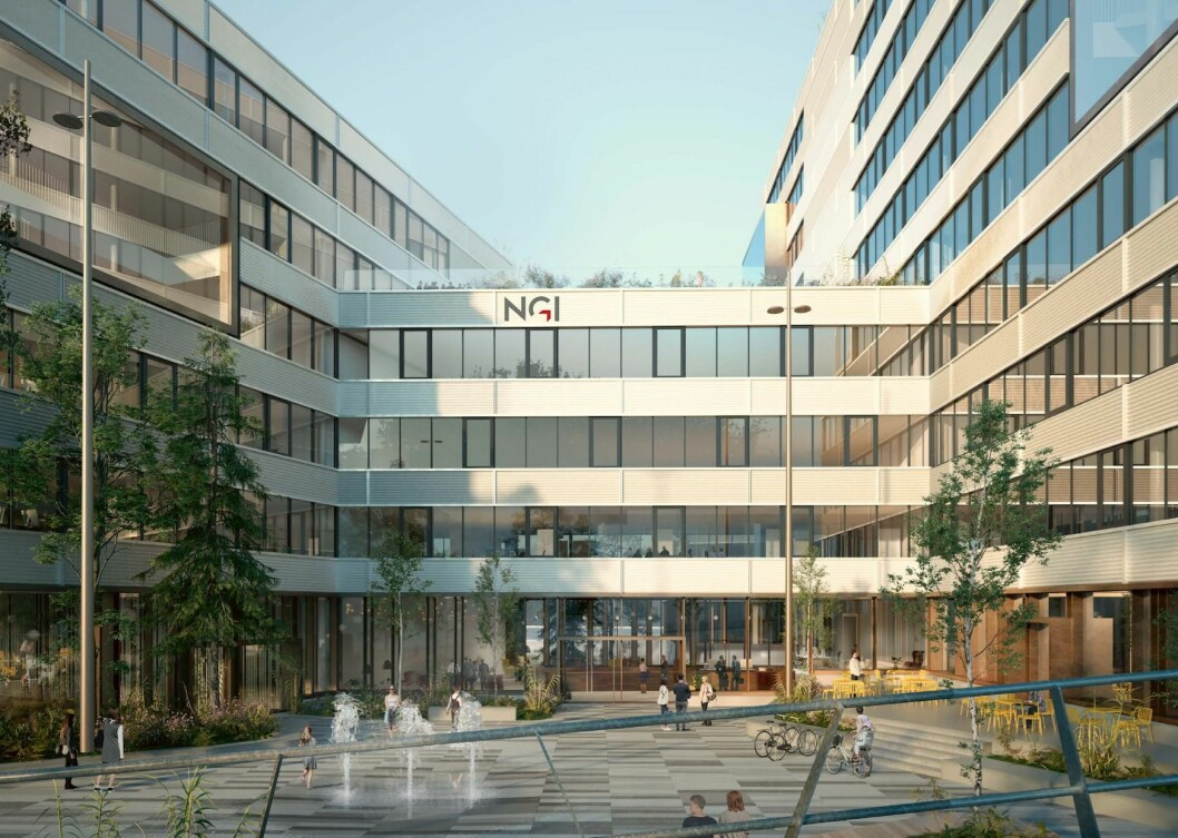 NYTT BYGG: Norges Geotekniske Institutt ønsker å rive eksisterende bebyggelse og oppføre et nytt bygg for flere arbeidsplasser. Ill: Ill: Schmidt Hammer Lassen / AART architects