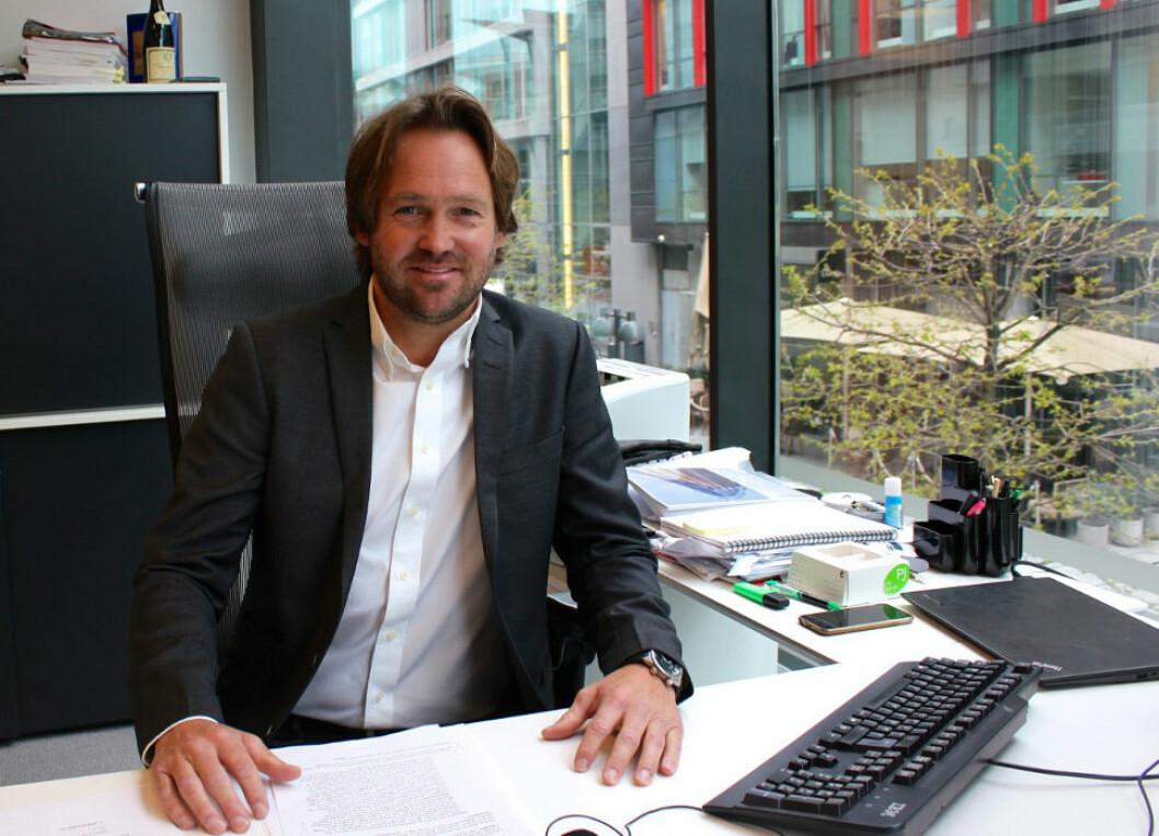 RUNDER 1 MILLIARD: Borger Borgenhaug, administrerende direktør og eneaksjonær i Axer Eiendom, tror selskapet kan runde 1 milliard kroner i omsetning i 2017.