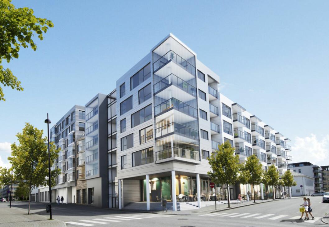 MEIERIKVARTALET: Neptune Properties AS og BB Eiendom AS har kjøpt og omregulert det gamle meieri- og brannstasjonskvartalet i Bodø. Eiendommen skal bygges ut med ca. 10 000 m2 bolig og ca. 2 500 m2 næring.