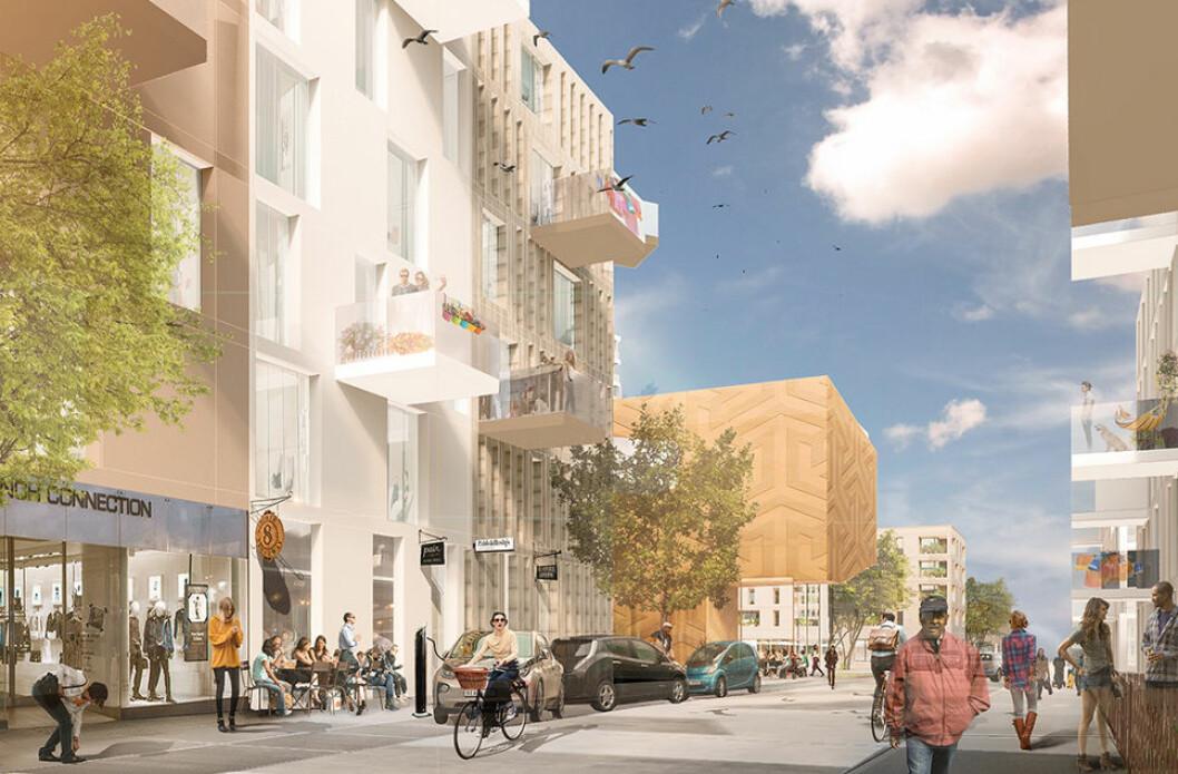 800 NYE BOLIGER: Et 40 mål stort område på Vollebekk skal gi 800 nye boliger, gjennom et samarbeidsprosjekt mellom OBOS og Aspelin Ramm.(Illustrasjon: A-Lab)