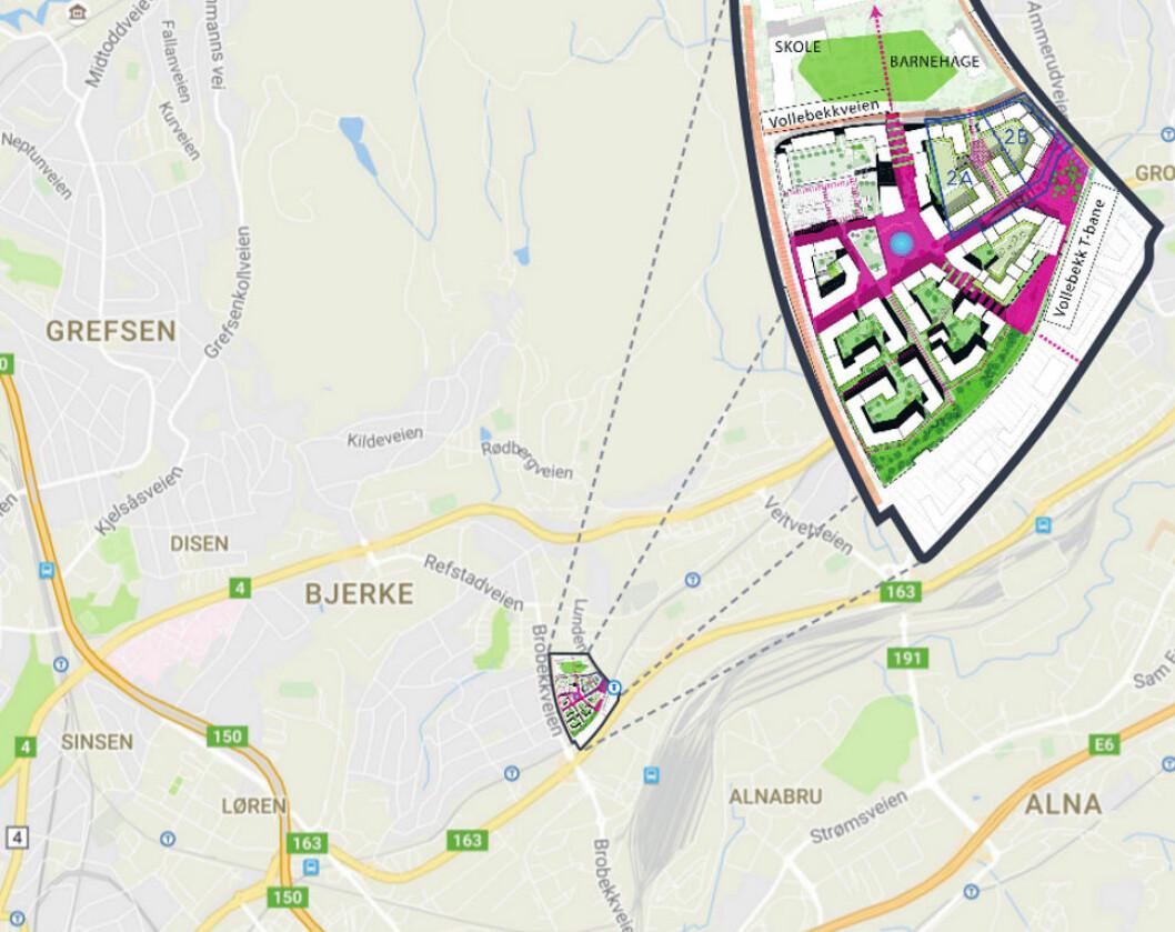 STORT POTENSIAL: JM har kjøpt enda en tomt på Vollebekk og nå er potensialet på 260–290 leiligheter på de to eiendommene.