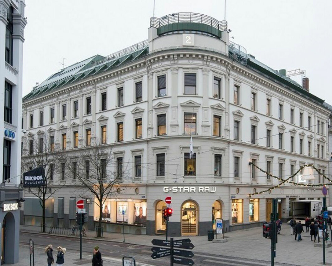 TAR FEM ETASJER: H&M tar hele fem etasjer i Karl Johans gate 14.