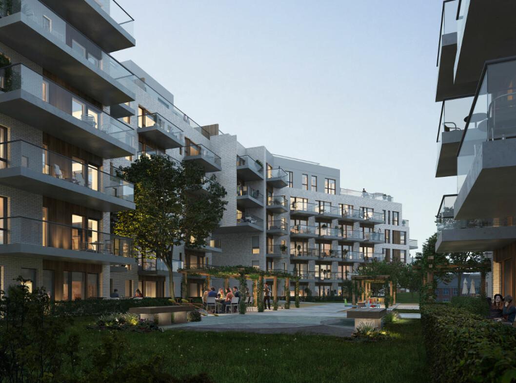 GODKJENT: Oslo Bystyre har godkjent omregulering av Stålverksveien 1 på Ensjø fra industri til boligbebyggelse. Dette innebærer at Neptune Properties kan bygge to boligblokker i seks etasjer med til sammen 133 leiligheter.